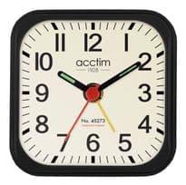 Acctim Maldon Alarm Clock - Black